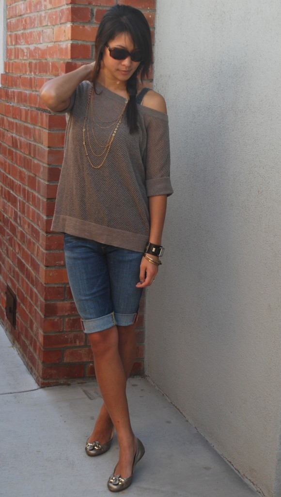James Perse Spring Sweater and Denim Capris