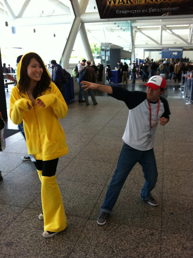 Wondercon 2011- Pikachu and Ash