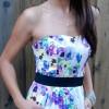 H&M Floral Strapless Dress