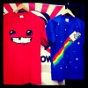 SDCC 2011 - nyan cat shirt / super meat boy shirt
