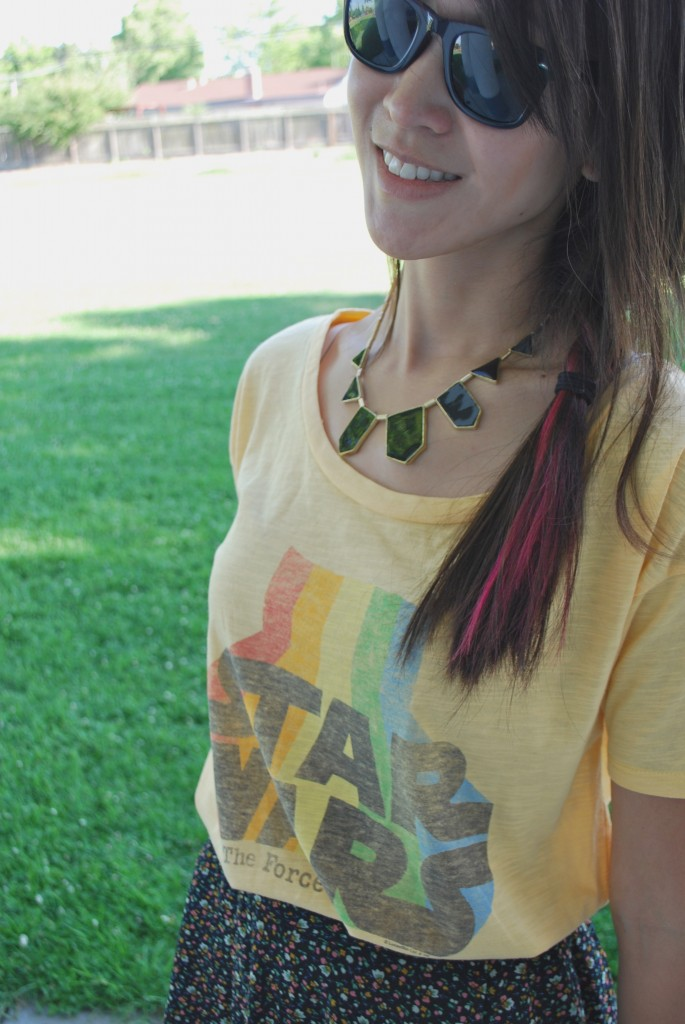 Yellow Star Wars Rainbow Tee