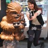Female Han Solo and Galactic Heroes Chewbacca Statue - San Diego Comic Con 2012