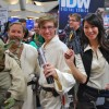 Female Han Solo, Luke Skywalker, and Yoda Cosplay - San Diego Comic Con 2012
