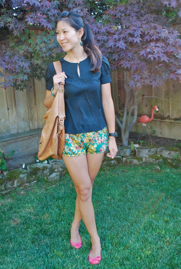 Tropical Womens Shorts Outfit