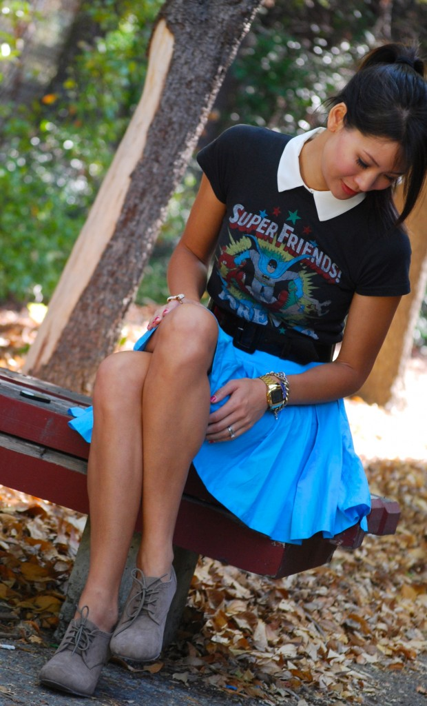 Super Friends Forever Justice League Shirt and Skirt outfit