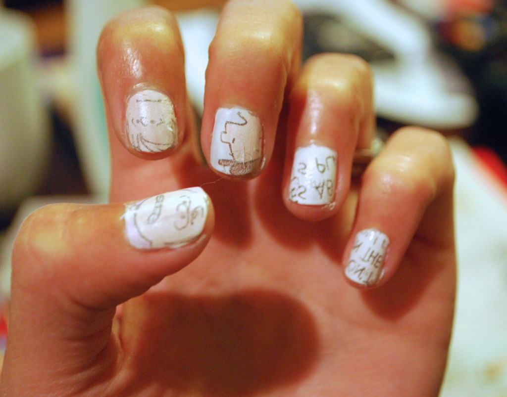 DIY Comic Strip Nails Tutorial – the stylish geek