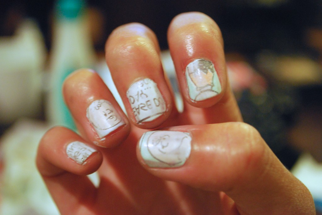 DIY Comic Strip Art Nails - Peanuts Charlie Brown