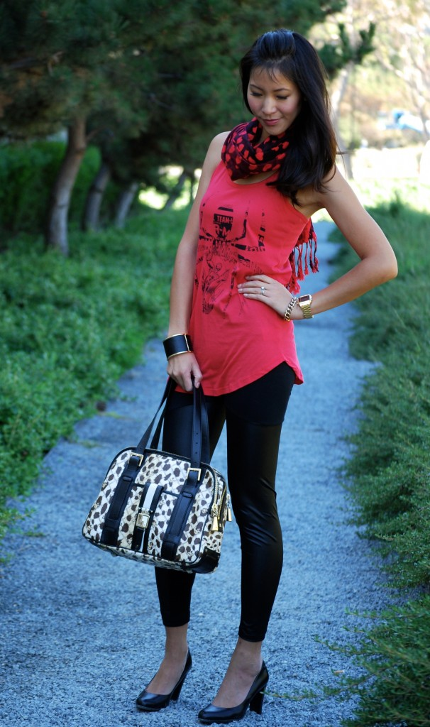 Spiderman Tank and Spliced Leggings with Cheetah/Leopard LAMB Purse