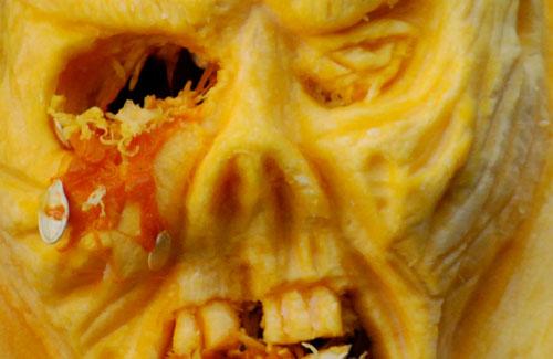 Zombie Pumpkin Face