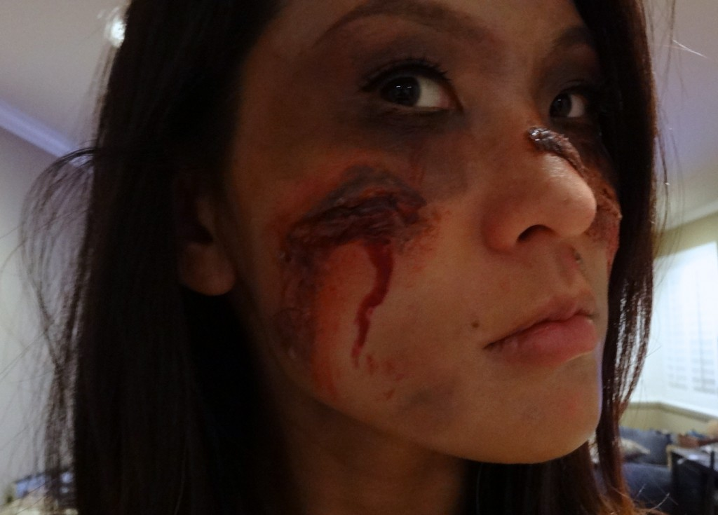 Zombie Makeup step by step tutorial