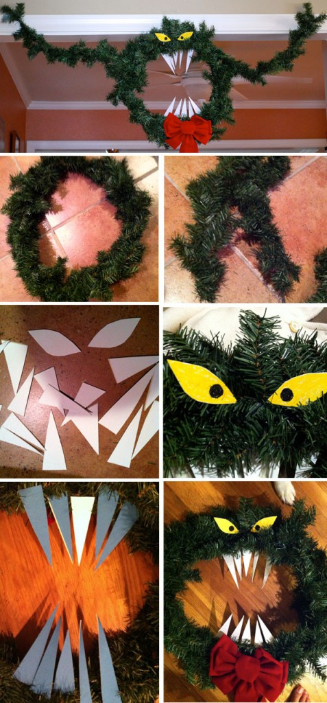 A little nightmare for your christmas the stylish geek diy nightmare before christmas haunted mansion wreath tutorial solutioingenieria Choice Image