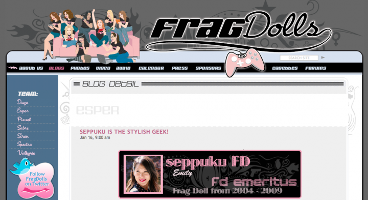 Seppuku Frag Dolls Guest Blog