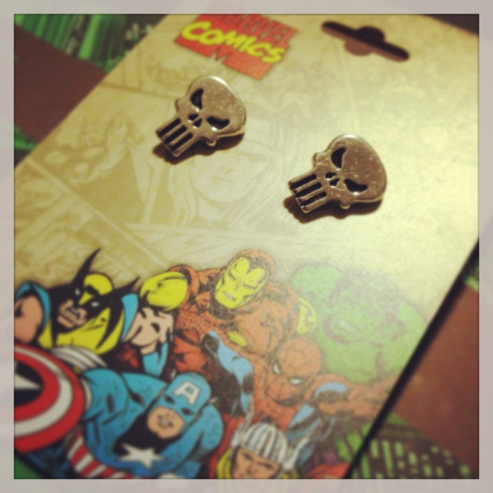 Marvel Punisher Earrings