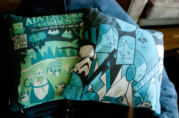 Star wars ale giorgini art Adventure Time comic pillow
