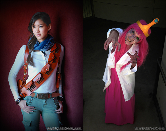 Nathan Drake and Zombie Princess Bubblegum Cosplay