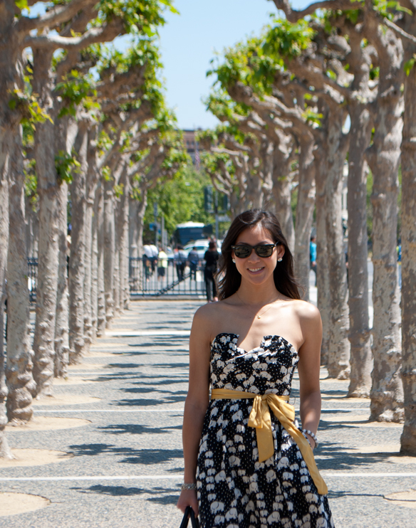 Elephant Print Strapless Dress