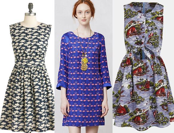 Fun Print Spring Dresses