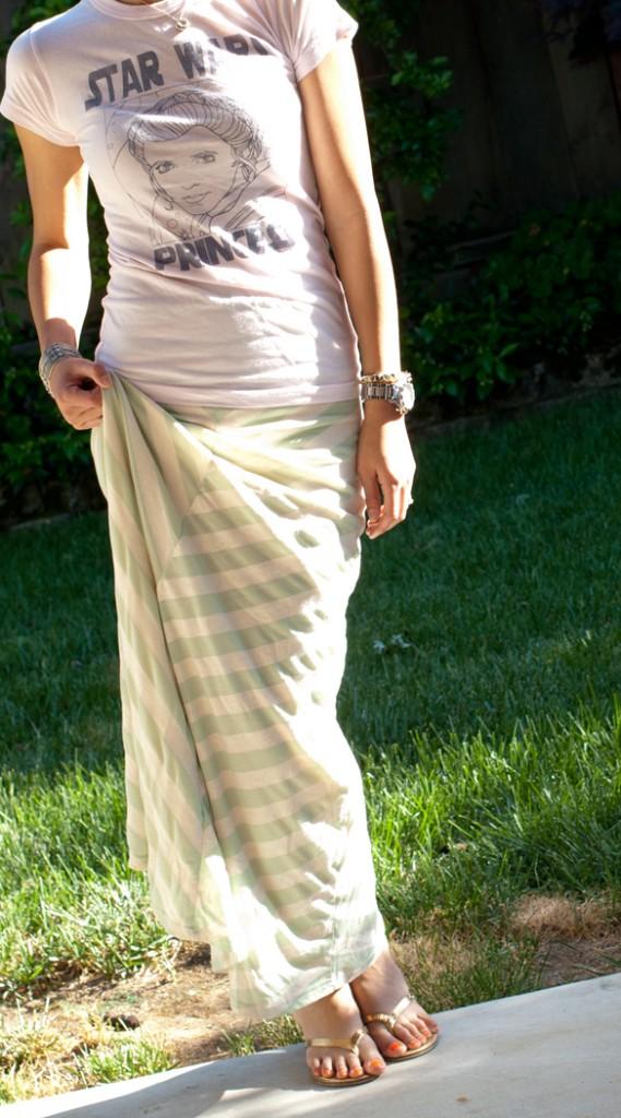 Star Wars Princess Tee and Chevron Striped Maxi Skirt