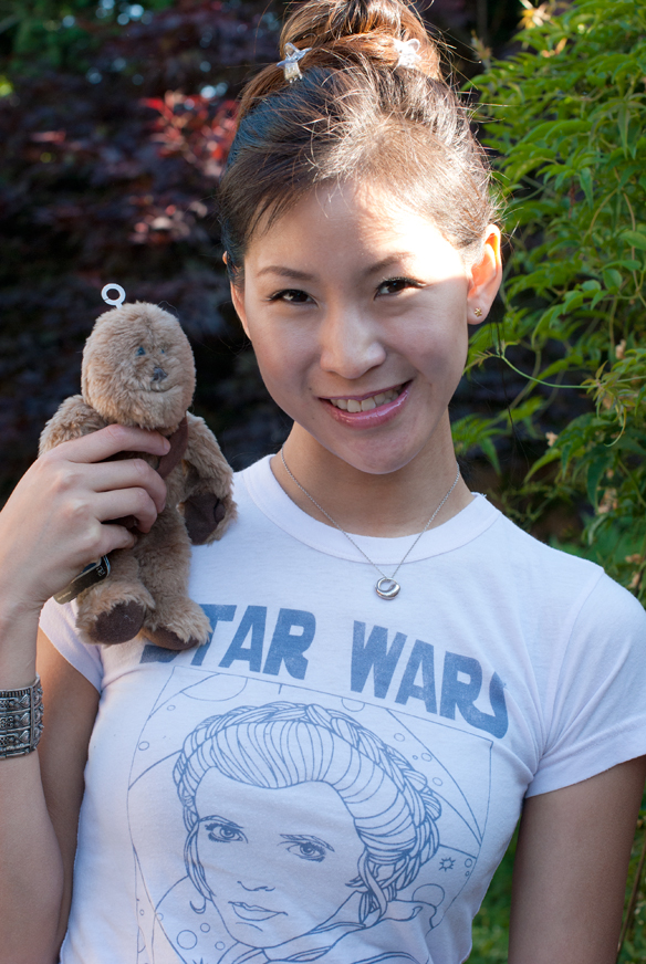 Star Wars Princess Tee and Star Wars Buddies Chewbacca plush