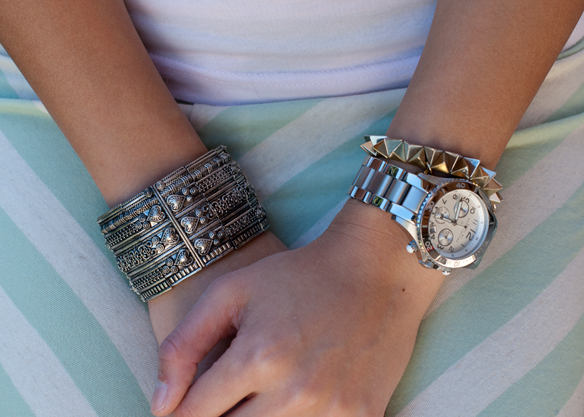 Marc Jacobs Watch and Spiked Bracelet