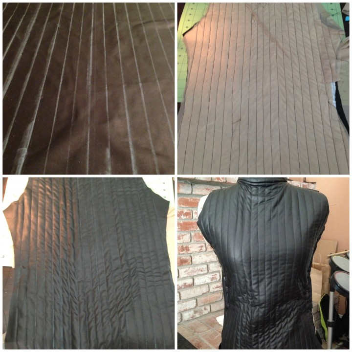 Darth vader cosplay suit quilting
