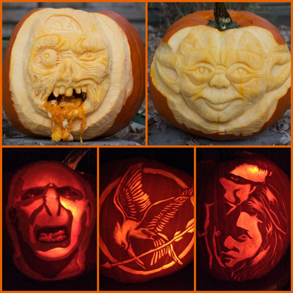 The Stylish Geek Pumpkin Carvings 2013