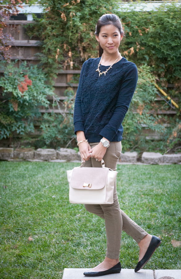 Jcrew Lace Crochet Sweatshirt