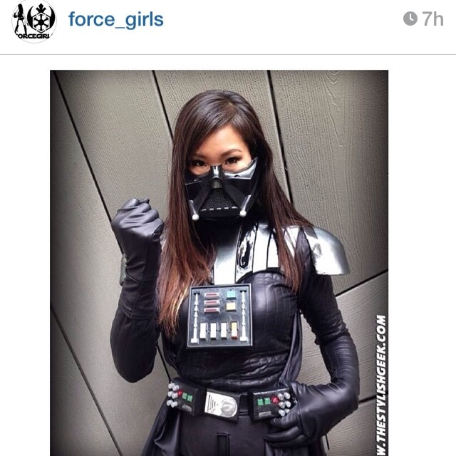 Thanks @force_girls for the feature! #starwars #vader #ladyvader #darthvader #rule63 #cosplay #costume #geek #thestylishgeek