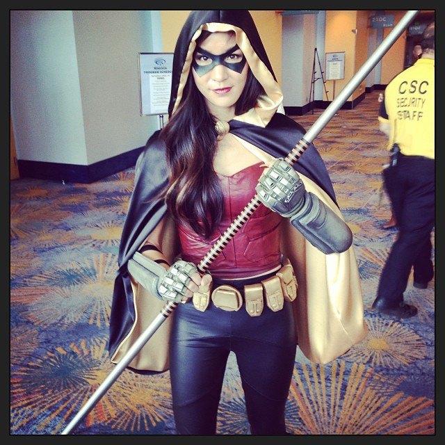 Just finished my panel! #wondercon #robin #arkhamcity #cosplay #batman