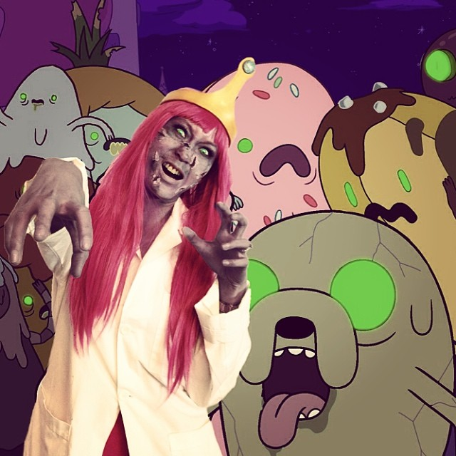 Feeling sick and zombie-ish! #princessbubblegum #zombie #adventuretime #cosplay #finn #jake #pink #pb #thestylishgeek