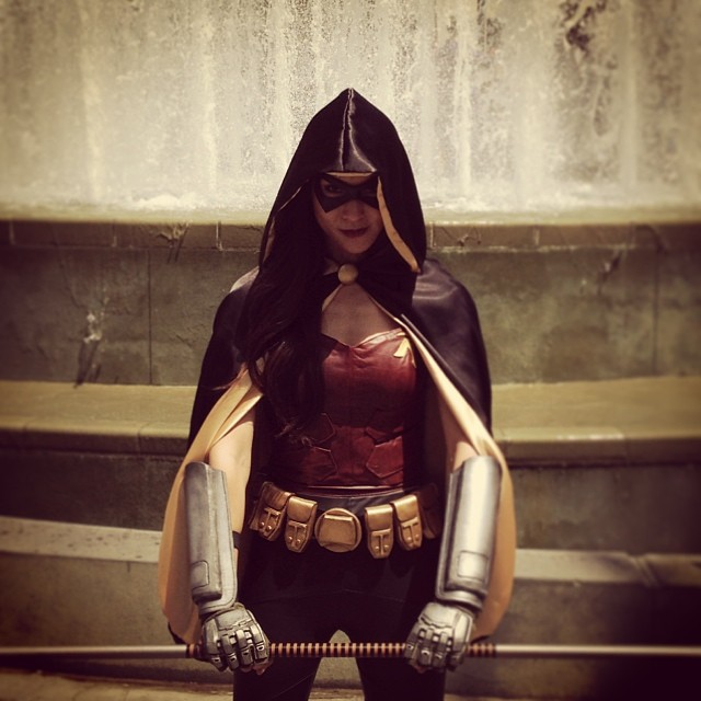 Obligatory fountain shot. #wondercon #cosplay #arkhamcity #batman #robin #dc #costume #videogames #gaming #geek #thestylishgeek