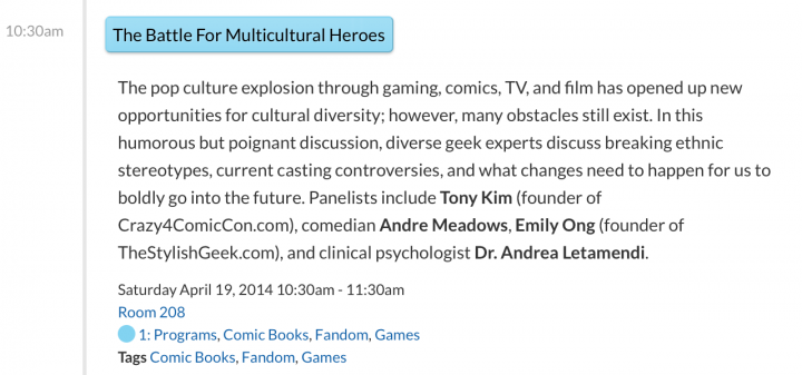 Battle for Multicultural Heroes Panel - Wondercon 2014