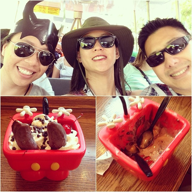 Celebrating post #Wondercon by pigging out! #disneyland #kitchensink #dessert #icecream #sundae #goodfriends @nsyncquirk
