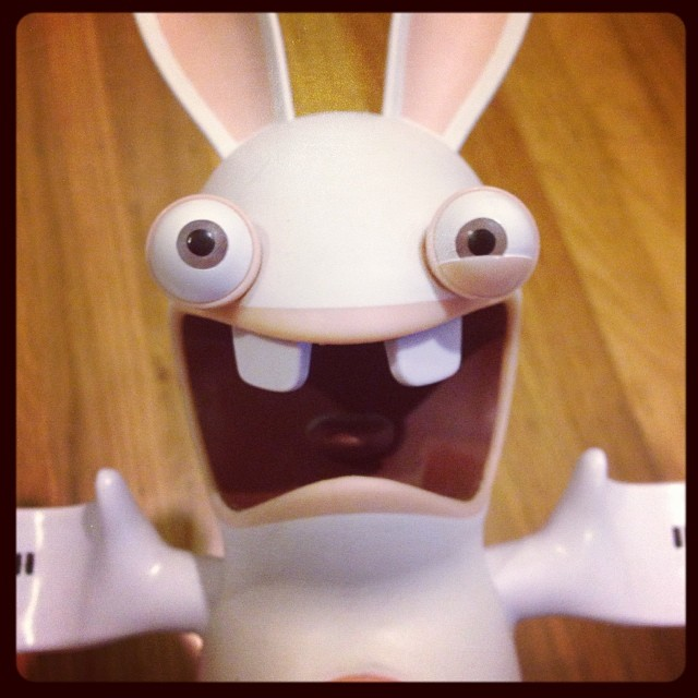 Today is crazy. #ravingrabbids #ubisoft #gaming