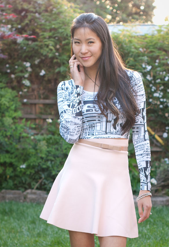 Star Wars Crop Top and BCBGMaxazria Skirt