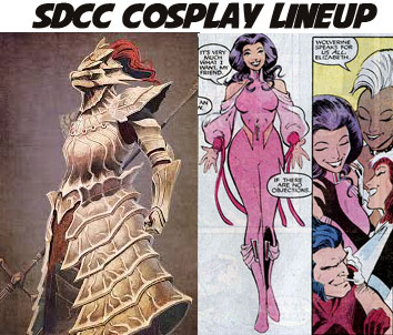 Ornstein and Psylocke stylish geek SDCC cosplay lineup