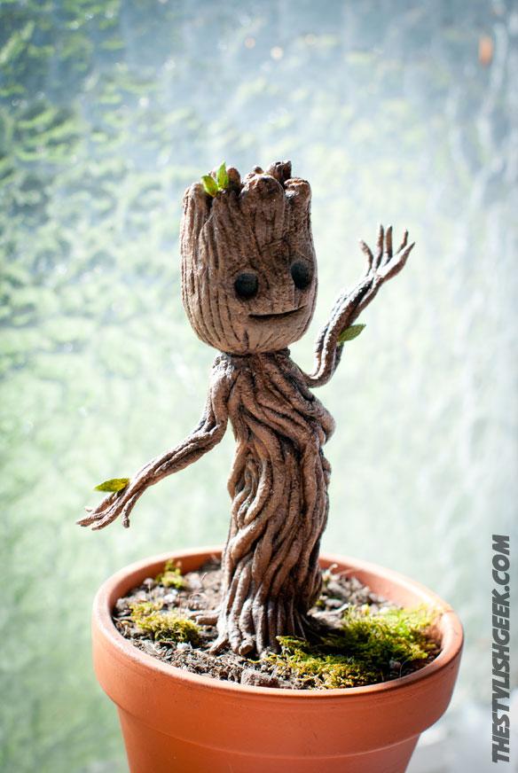 Baby Groot Statue