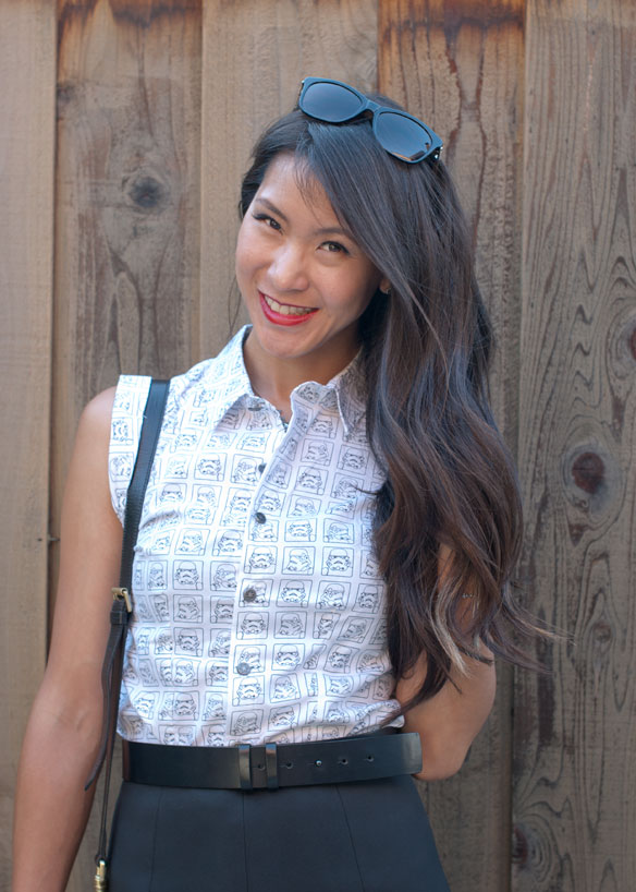 Stormtrooper all over print We Love Fine collared top