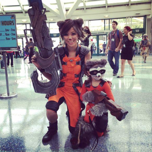 Rocket Raccoon cosplay Comikaze 2014