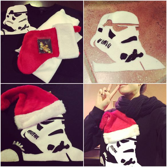 DIY Stormtrooper Christmas Sweater