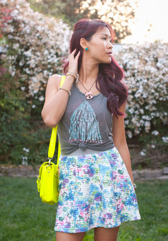 Junk Food Clothing Star Wars Tank with Quilted Floral skirt