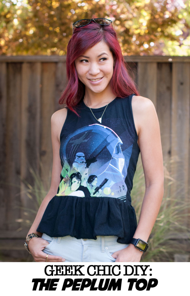 Star Wars Celebration Anaheim Shirt - DIY Peplum Top tutorial
