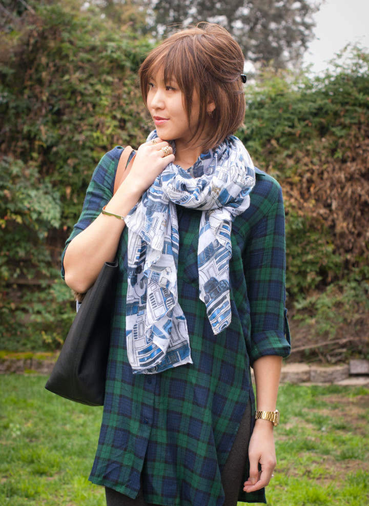 R2D2 Scarf and Plaid Tunic
