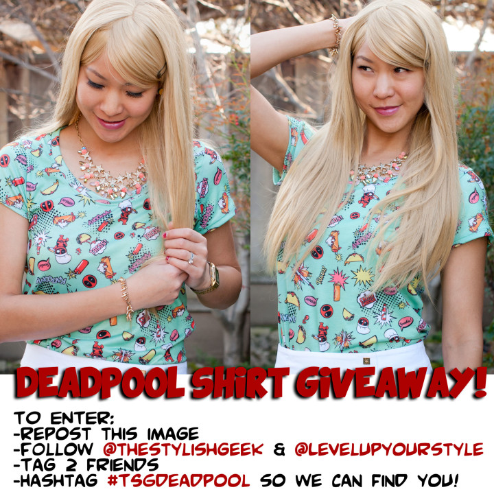 Level Up Deadpool Shirt Giveaway