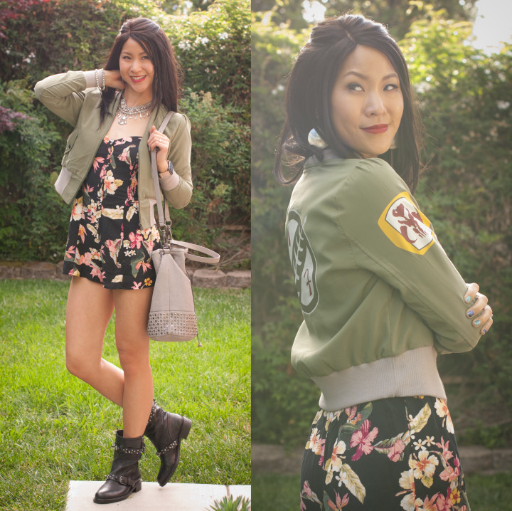Boba Fett Jacket and Floral Romper