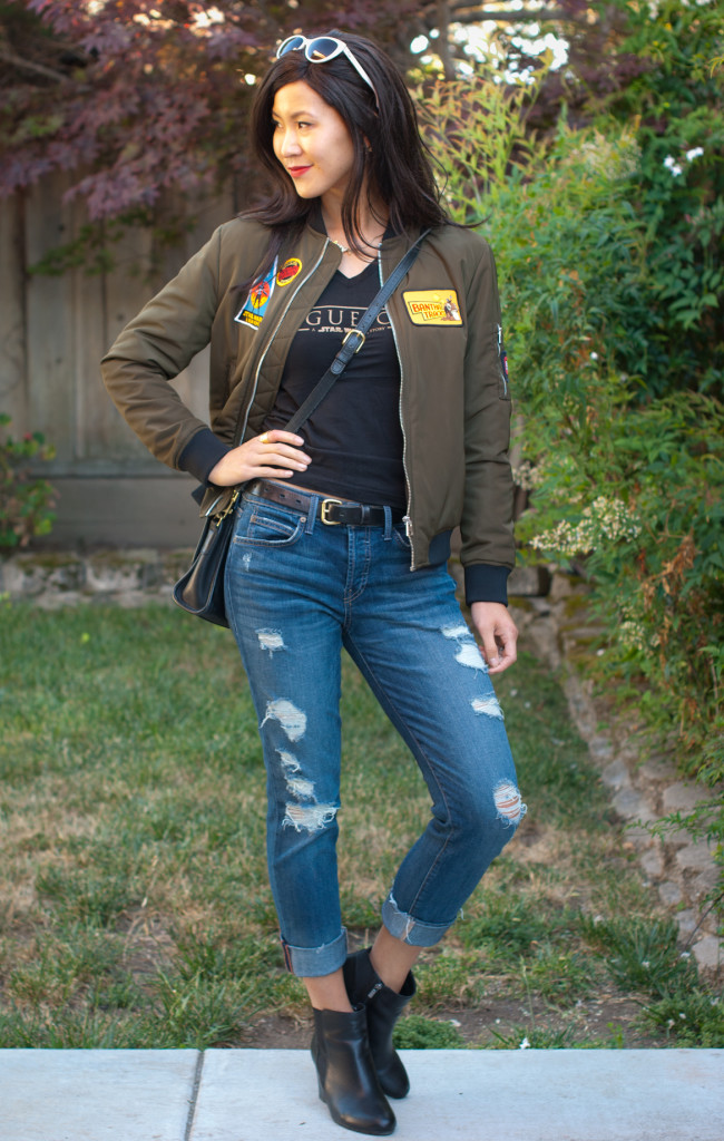 The bomb diy star wars bomber jacket the stylish geek rogue one shirt and star wars bomber jacket solutioingenieria Images