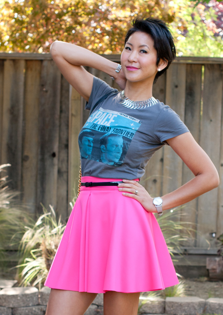 Star Trek Tee and Skirt Outfit
