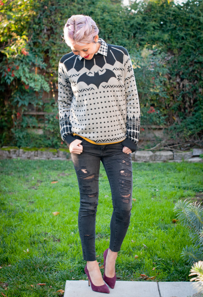 Batman Ugly Christmas Sweater Outfit