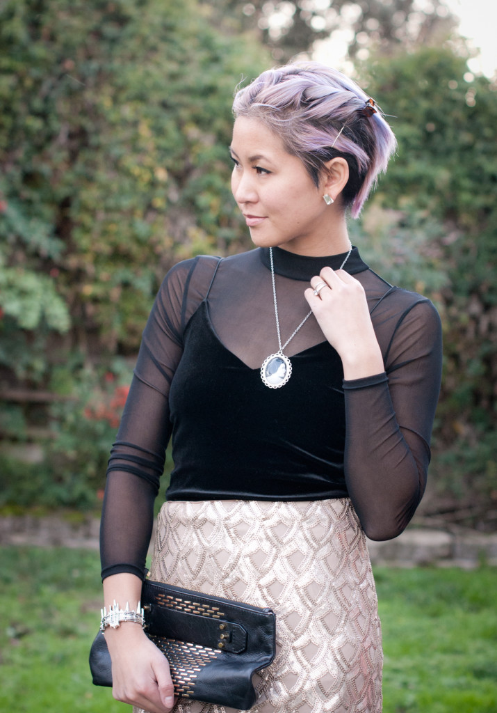 new years eve outfit with princess leia necklace