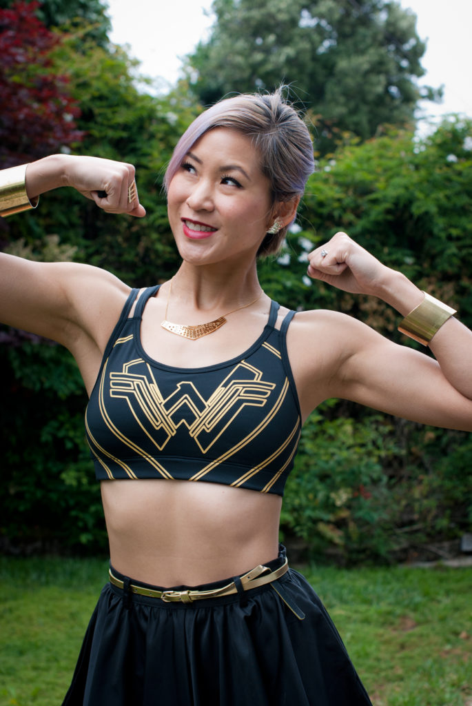 Gap x Wonder Woman collection sports bra
